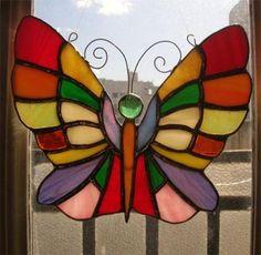 Movil vitraux estilo tiffany figura mariposa
