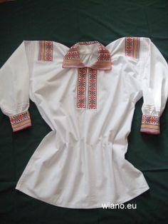Embroidered blouse: Lublin-Krzczonów, Poland.