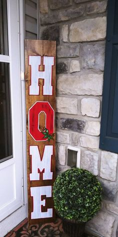 Your place to buy and sell all things handmade Rustic Ohio State fan HOME porch wood sign front door signs Ohio State Decor, Ohio State Crafts, Ohio State Rooms, Ohio State Nails, Ohio State Wreath, Ohio State Buckeyes, Ohio State Football, American Football, Oklahoma Sooners
