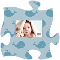 Whales Puzzle Photo Frame