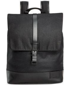 Calvin Klein Coated Canvas Backpack - Black Klein Backpack 52808d5407a44