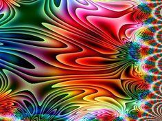 Rainbow Stretch Fractal by cdooginz on DeviantArt Fractal Design, Fractal Art, Fractal Images, Glitch Art, Psychedelic Art, Geometric Art, Rainbow Colors, Color Splash, Bunt