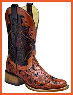 Corral Women's R6762 Handtooled Brown Western Boots 8.5 M - Boots for women (*Amazon Partner-Link)