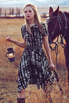 Painted Plaid Dress #anthropologie