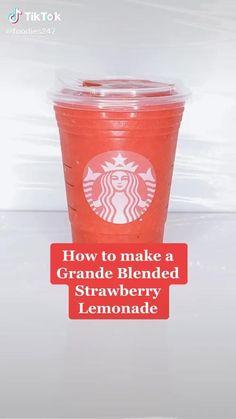 Bebidas Do Starbucks, Secret Starbucks Drinks, Starbucks Coffee, Starbucks Smoothie, Starbucks Pink Drink Recipe, Fruit Smoothie Recipes, Smoothie Drinks, Coffee Drink Recipes, Tasty Videos