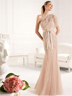 Elegant Column/Sheath Asymmetrical With Sequins and Nice Sash Floor Length Prom Dress PD2260 www.simpledresses.co.uk £149.0000