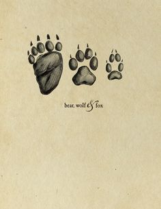 I hope to be getting the wolf paw on my hand soon like my dad has the bear's