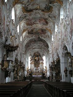 Catholic Church in Oberammergau, Germany.