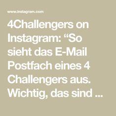 """4Challengers on Instagram: """"So sieht das E-Mail Postfach eines 4 Challengers aus. Wichtig, das sind nicht irgendwelche 0815 Leads, sondern """"heiße"""" Leads. Wenn wir dein…"""" Entrepreneurship, Online Marketing, Poster, Math Equations, Instagram, Knowledge, Tips, Internet Marketing, Posters"""