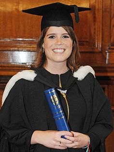 Princess Eugenie Poses in a Graduation Cap and Gown