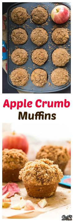 Start your fall mornings with these super moist Apple Crumb Muffins! Find the recipe on www.cookwithmanali.com