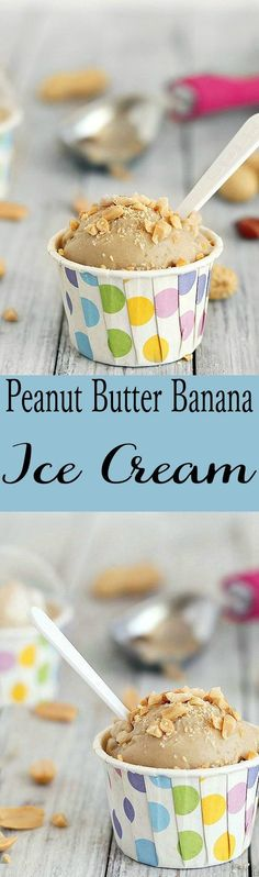 This peanut butter banana ice cream is made with only two ingredients, no dairy, no added sugar, vegan, super healthy and tastes amazing!