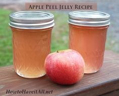 apple peel jelly recipe. I wonder what this actually tastes like... I'll probably give it a go since it's made from scraps anyway