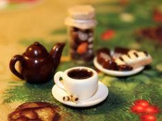 http://www.ebay.com/itm/Tea-with-Cake-1-12-scale-Handmade-Dollhouse-Miniature-polymer-clay-/322305878952?ssPageName=STRK:MESE:IT #dollhouseminiature #polymerclay #handmade #handcrafted