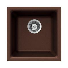 HOUZER Cristalite Copper Granite Drop-in or Undermount Residential Bar Sink