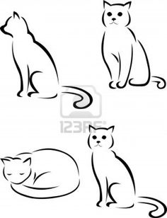 cat silhouette Stock Photo - 13781046