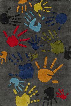 Kids Rug - Hand-Tufted Finger Paint Area rug