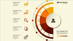 HOW TO MAKE AN ORANGE COLOR INFOGRAPHIC DESIGN TEMPLATE