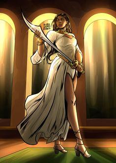 Nyssa Al Ghul, Talia Al Ghul, Fandoms, Princess Zelda, Fictional Characters, Art, Dc Comics Characters, Art Background, Kunst