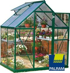 Palram Nature Series Hybrid Hobby Greenhouse, Silver or Green