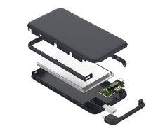 Portable 10000mAh Power Bank Dual USB Port 2A