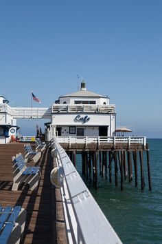 Head to Malibu to check out a pair of new restaurants with plenty of outdoor dining, uninterrupted vistas of the Pacific, and locally sourced food. Southern California Beaches, Malibu California, California Travel, Malibu Surf, Malibu Pier, Malibu Beaches, Malibu Farm Cafe, Cool Places To Visit, Places To Travel
