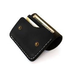 Leather Wallet vertical snap wallet by AtelierPALL por LeatherPall