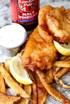 IPA-Battered Fish and Chips - FOOD52    White fish takes a dip in a quick beer batter before being fried along with the potatoes. A one-pot dish!   WHY WE LOVE IT: There's nothing like thickly battered fish accompanying freshly made, twice-fried french fries to transport us to the other side of the pond.