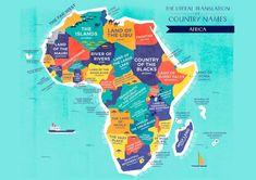 El nombre de los países según sus significados originales