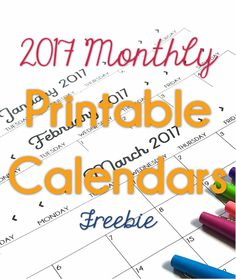 These free printable calendars are perfect for RtI tracking, or student accountability logs.