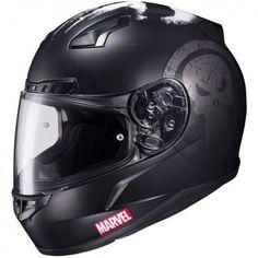 HJC CL-17 Marvel Punisher Mens Street Bike DOT Riding Motorcycle Helmets
