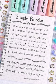 Best Bullet Journal Divider Ideas For 2019 Check out the. - nigde - Best Bullet Journal Divider Ideas For 2019 Check out the. Best Bullet Journal Divider Ideas For 2019 Check out the collection of super cute and easy bullet journal divider ideas! Bullet Journal School, Bullet Journal Inspo, Bullet Journal Dividers, Bullet Journal Headers, Bullet Journal Lettering Ideas, Bullet Journal Banner, Journal Fonts, Bullet Journal Notebook, Bullet Journal Aesthetic