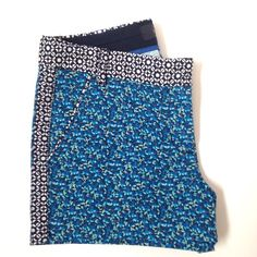 J. Crew mixed pattern shorts Floral print J. Crew shorts with abstract patterned waistband, tuxedo stripe, & piping. Super flattering fit. Gently used for a season but still in great condition. 2.5 inch inseam. J. Crew Shorts