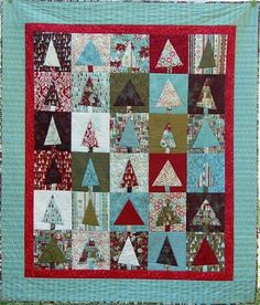 """Kate Conklin Designs: Downloadable Patterns - her """"Pine for You"""" pattern would make a great Christmas quilt!"""