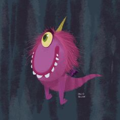 Purple People Eater by David Pavon for Sketch Dailies