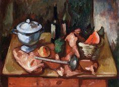 Bodegón - Oleo sobre hardboard - Horacio Butler (Argentino 1897-1983) Museo Nacional de Bellas Artes de Buenos Aires