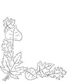 Leaf Corner Border Clip Art Black And White Pictures to ...