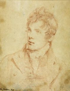 ~ Portrait of Sir David Wilkie, R., Chalk on Paper by John Jackson R.A English Painter who specialised in Portraits . David Wilkie, Colored Chalk, Renaissance Paintings, Portrait Sketches, Grisaille, Drawing Practice, Portraits, Sculpture, Jackson