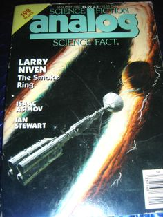 SCIENCE FICTION ANALOG MAGAZINE JANUARY 1987 ~ LARRY NIVEN THE SMOKE RING ASIMOV