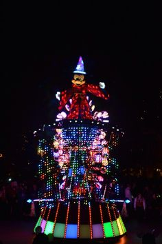 Paint The Night Parade for #Disneyland 60th Anniversary Celebration via the Disneyland Facebook page