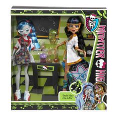 Ghoulia Yelps and Cleo de Nile Mad Science Class Monster High Dolls 2-Pack - $33 at Kmart.com. I bought this set on sale for $20.