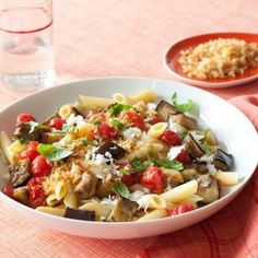 Penne with Roasted Eggplant and Mozzarella recipe