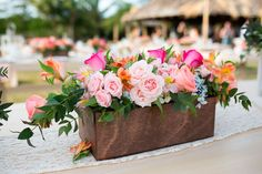 Centro de mesa para casamento de primavera