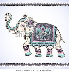 Find Vintage Graphic Vector Indian Lotus Ethnic stock images in HD and millions of other royalty-free stock photos, illustrations and vectors in the Shutterstock collection. Thousands of new, high-quality pictures added every day. Indian Elephant Art, Elephant Artwork, Elephant Images, Elephant Design, Indiana, Elephant Sketch, Indian Art Paintings, Abstract Paintings, Madhubani Art