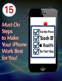 15 Must-Do Steps to Make Your iPhone Work Best for You!  http://www.wonderoftech.com/iphone-settings/