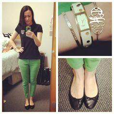 OOTD (Taken with instagram) Watch, Pants, Flats