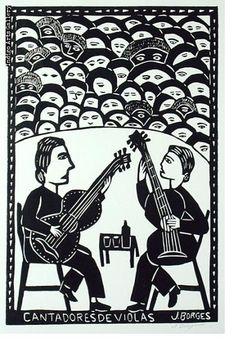 José Francisco Borges (Brazil), Woodcut print on paper x 12 2005 Arte Popular, Popular Art, Arte Latina, Woodcut Art, Indigenous Art, Outsider Art, Woodblock Print, Art World, Printmaking