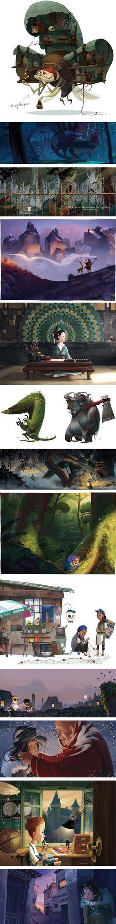 Julia Sarda is an illustrator, concept artist and character designer based in Barcelona.