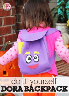Dora the Explorer Backpack Sewing Pattern and Tutorial