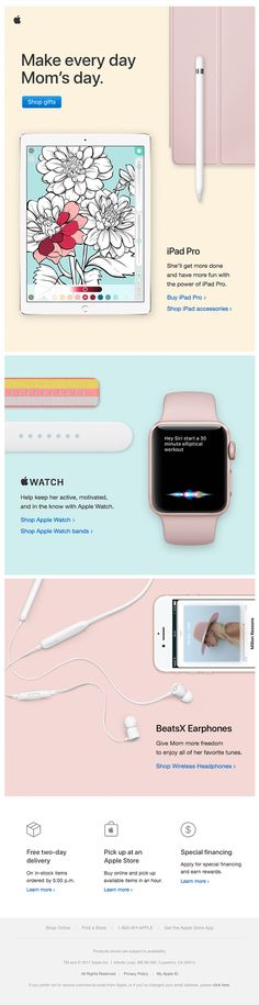Celebrate Mom with Apple gifts. - Really Good Emails Mother's Day Promotion, Promotion Ideas, Apple Shop, Holiday Emails, Apple Gifts, Email Design Inspiration, Sale Emails, Best Gifts For Mom, Email Marketing Campaign